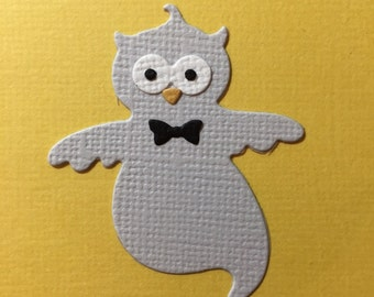 Ghost Owl Embellishments x 4 Scrapbooking Halloween Fully Assembled Die Cuts