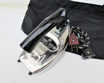 Vintage Travel Iron | Small Folding Iron | Portable Clothes Iron