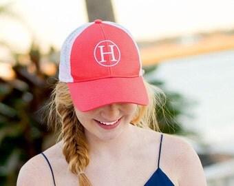 Monogram Trucker Hat, Custom Trucker Hat, Monogram Baseball Hat, Personalized Bridesmaid Gift, Embroidered Mesh Cap, Mesh Baseball Cap