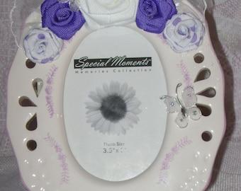 Oval Ceramic Embellished Picture Frame