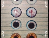 GOTHIC VAMPIRE EYECHIP set of 4 for Blythe or Icy Doll by Antique Shop Dolls