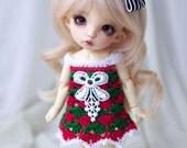 Christmas crocheted dress for PukiFee, Lati Yellow