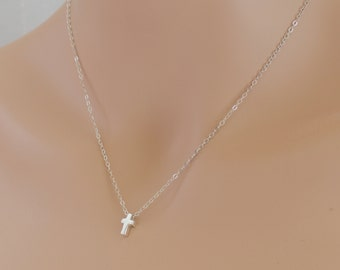 Cross Necklace, Sliding Cross, Cross Jewelry, Confirmation Gift, Sterling Silver, Cross, Wedding Jewelry, Cross Pendant, For Her, BeadXS