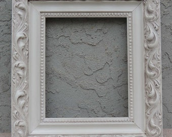 White Picture Frames / 10 x 12 Frame / Vintage Picture Frame / Ornate Picture Frame / Wood Picture Frame / Shabby Chic Frame / Gallery Frame