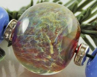 "Lampwork Beads Glass Bead Set Handmade Glass Handmade Lampwork Beads SRA Artisan Glass Beads ""Peri DragonBall"" 3 bead set"