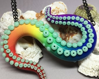 Rainbow Tentacle Necklace