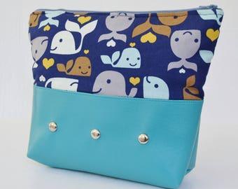 Whale of a Good Time Makeup Bag