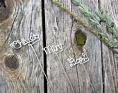 Wire Garden Markers - Rustic Garden Sign - Custom Herb Markers - Plant Markers - Garden Stakes - Potted Plants - Herb Garden