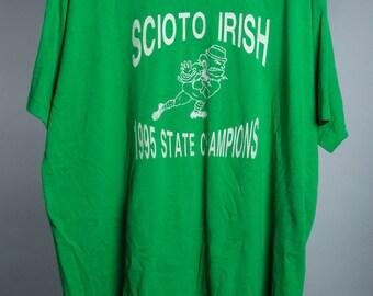 XL Large Vintage 90s Green T Shirt Ohio 6AA