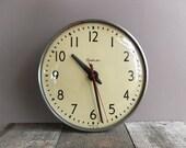 Vintage SIMPLEX School Clock / Industrial School Clock / Slave Clock / Retro Wall Clock