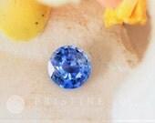 Ceylon Portuguese Cut Cornflower Blue Sapphire 6.6 MM Round Wholesale Gemstone