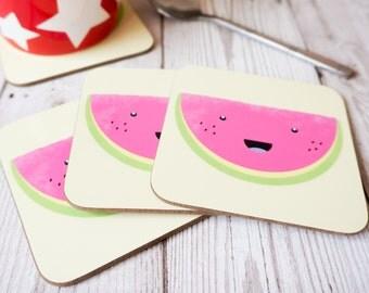 Fruit Slice Coaster - Watermelon - Melon Coaster