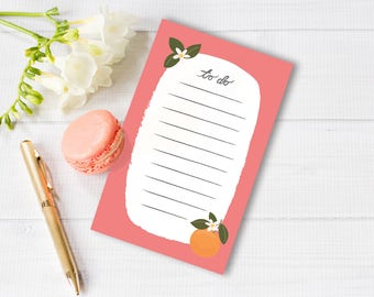 Clementine To Do List Notepad by Itsy Belle Studio