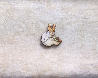 Hunca Munca Needle Minder Beatrix Potter quilting holder Peter Rabbit embroidery tool mouse Easter Mother's Day