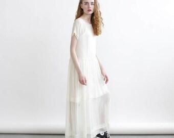 Sheer Maxi dress, Cocktail Dress, Ivory Maxi Dress.