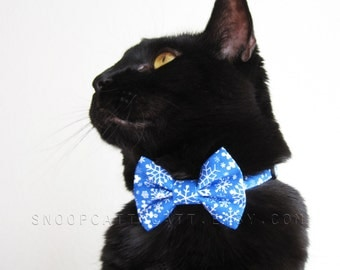 Cat Bow Tie - Winter Wonderland