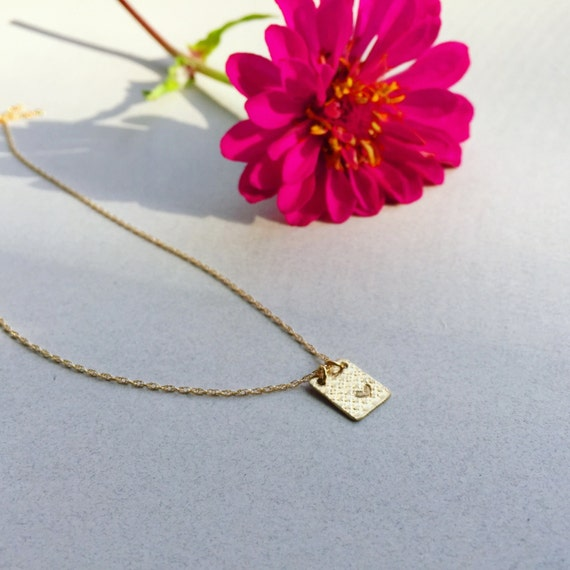Aries Birthday Gift Heart Necklace For Girlfriend Jewelry Gold