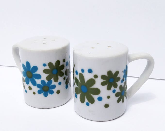 Vintage 1970's Flower Power Salt and Pepper Shakers by Takahashi