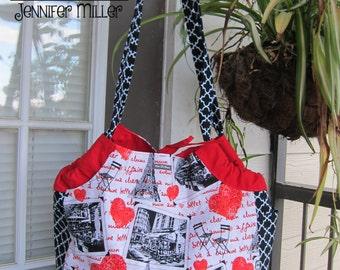 Sheena Shoulder Bag: I Heart Paris Print