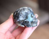 Amazonite Stone Carved Crystal Skull