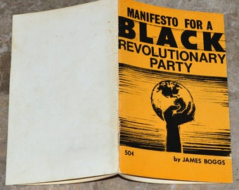 Manifesto for a Black Revolutionary Party - Rare Early 1970's Booklet - James Boggs - Black Panthers / Liberation / Malcolm X / Black Power