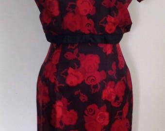 1960's Vintage roses dress
