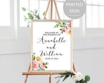 Wedding Welcome Sign, Large Wedding Welcome Sign, Welcome Wedding Sign, Printed Wedding Welcome Sign, Welcome to our Wedding Sign