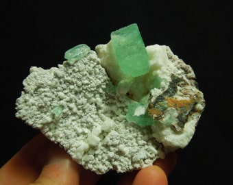 Green Apophyllite w/ Stilbite