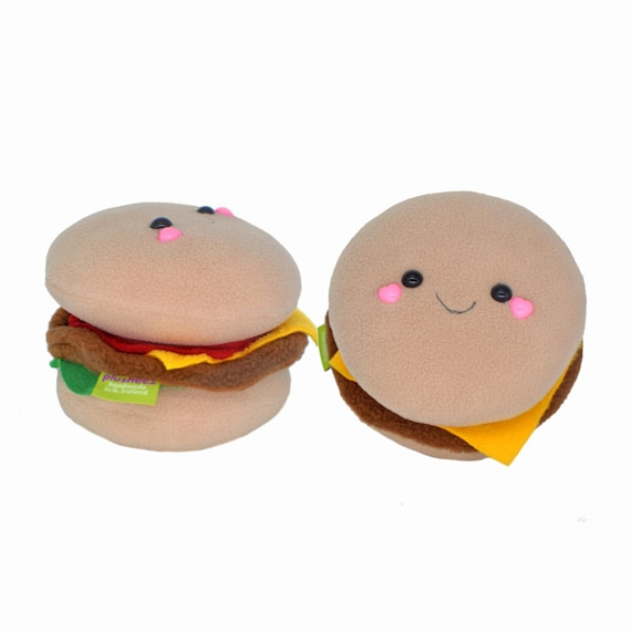 Cheeseburger plush toy hamburger sandwich novelty kawaii plushie