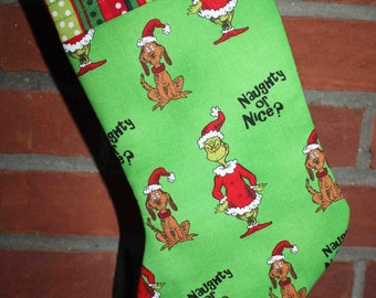 Green Grinchmas Stocking