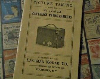 1916 Kodak Brownie Camera No. 2 and 2-A Booklet Cartridge Premo Cameras Ephemera Antique