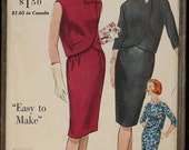 Vogue Special Design 4254 1960s 60s Mod Two Piece Dress with Gathers MCM Vintage Sewing Pattern Size 16 bust 36