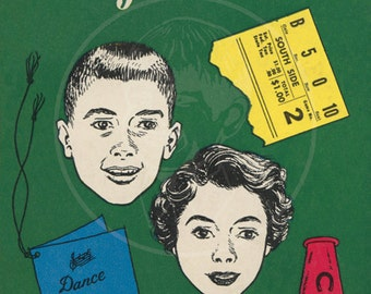 Hi There, High School! - 10x15 Giclée Canvas Print of Vintage Paperback