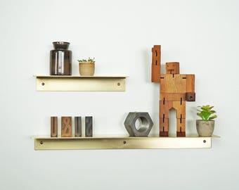Austonian Brass Shelf Ledge Bent Shelves