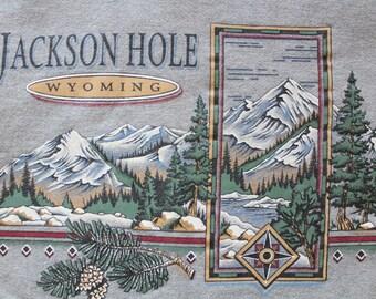 Vintage Jackson Hole Wyoming Souvenir Sweatshirt 1990s