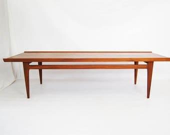 Danish Modern Finn Juhl Solid Teak Coffee Table Model 532 By France And Daverkosen In Denmark