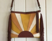 Sun Rider Leather Fringe Clutch/ Crossbody