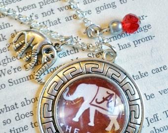 Alabama necklace Crimson Tide necklace Alabama football necklace Bama necklace Alabama jewelry Roll Tide necklace Alabama mom Alabama gift