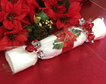 Christmas Crackers, Christmas Gift, Unusual face cloth and Toiletries or chocolate table gifts, Teacher present, stocking filler
