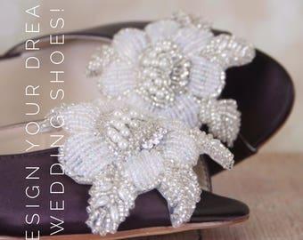 CUSTOM CONSULTATION:  Wedding Shoes, Design Your Own Wedding Shoes, Custom Wedding Shoes, Bridal Heel Design