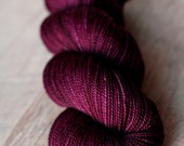 """Dyed to Order - Sock yarn - 100% SW Merino - Thanksgiving - """"Wine... Because Family"""""""