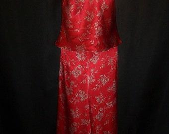 Size Medium - Pajamas - Victoria's Secret - Red - Satin Polyester