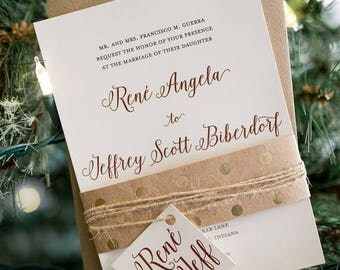 Wedding Invitation, Printable Wedding Invitation, Calligraphy Wedding, Script, Modern, Rustic Wedding, DIY Wedding Invitation - #S8