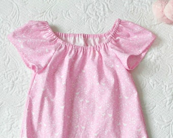Pink Cotton Old Fashioned Nightgown, Available in Sizes Baby Girl 6M 9M 12M 18M 24M 2T 3T 4T, Rose and Ruffle