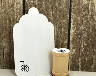 Reiki Choku Choku Rei Rubber Stamp Place the power of the universe here