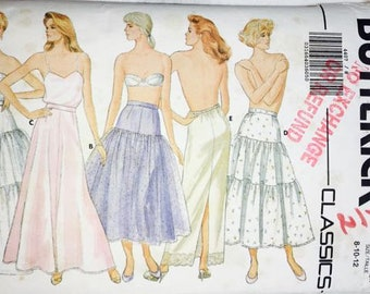 Butterick 4407 Misses Petticoat in 5 styles 1986
