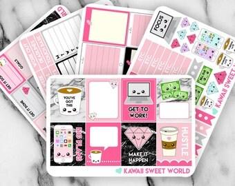Girl Boss Planner Sticker Set | Erin Condren Planner Stickers