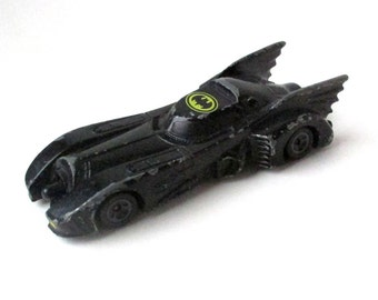 Batmobile Vintage 1989 Batman movie, DC Comics, die-cast metal car, Matchbox, Hot Wheels