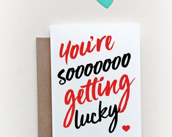 Naughty Valentine's Day Card, Funny Valentine's Day Card,  Boyfriend Card, Girlfriend Card, First Valentines card, New relationship