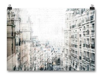 Paris Wall Art, Abstract Art, Large Format Art Prints, Affordable Wall Art, Neutral Home Decor, Paris Photography, Travel Decor